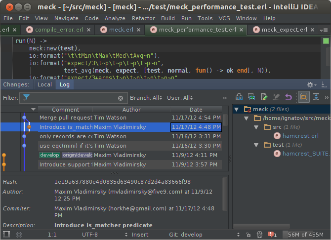 intellij-erlang - the Erlang IDE  Based on IntelliJ IDEA