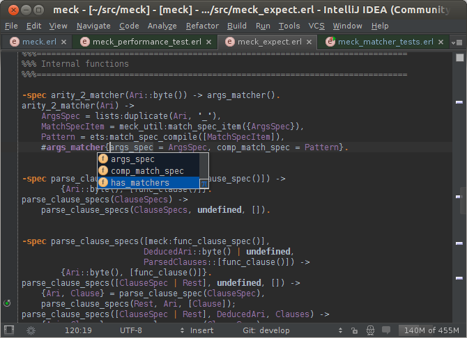 intellij-erlang - the Erlang IDE  Based on IntelliJ IDEA